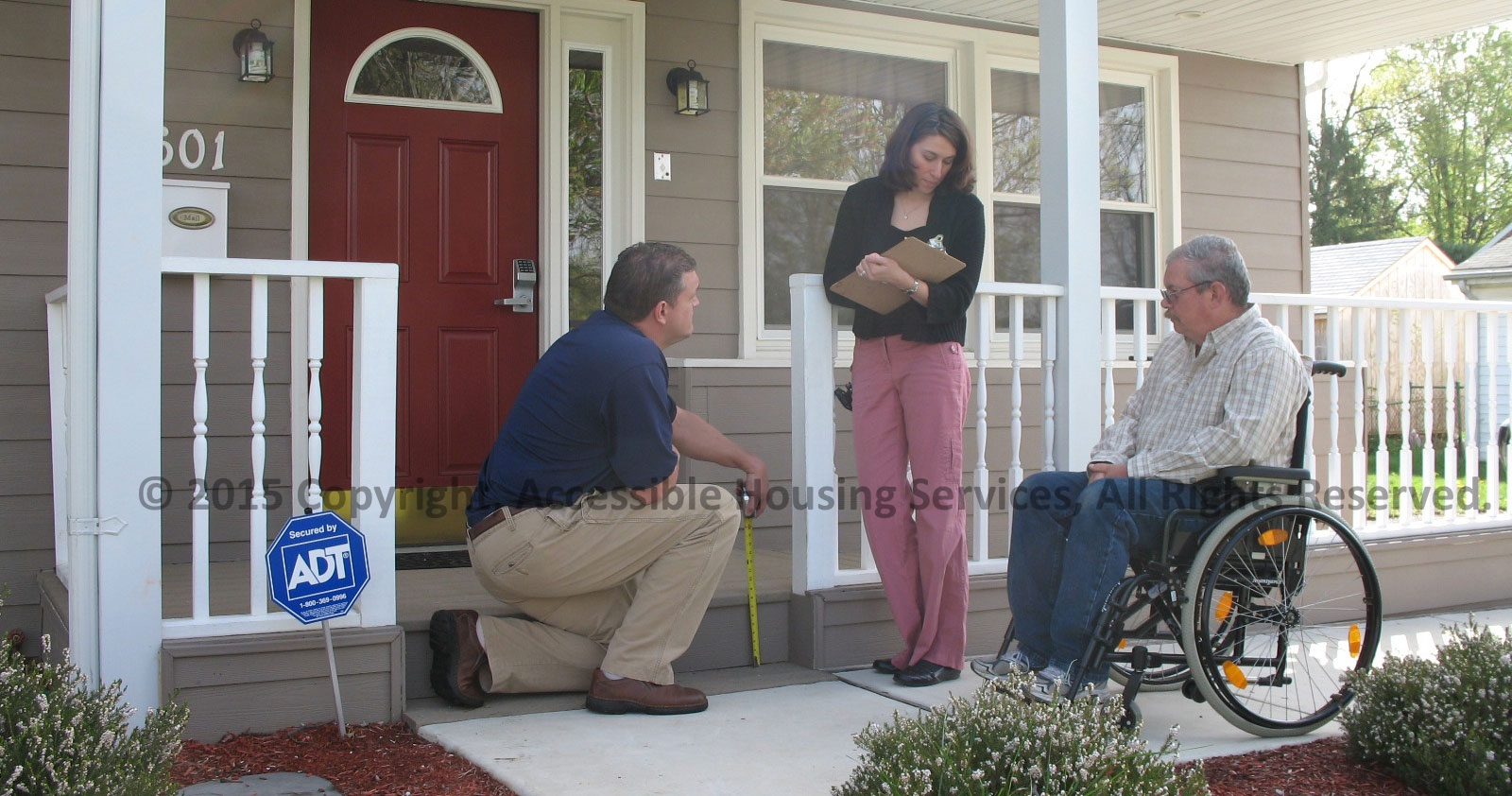 Measuring wheelchair accessible home entrance accessible for Building a wheelchair accessible home